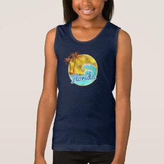 Florida, Ocean wave, Palm Trees Tank Top
