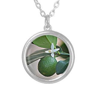 Florida Orange Blossom and small Orange Necklace