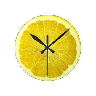 Florida Orange Clock. Round Clock