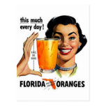 Florida Orange Juice Postcards