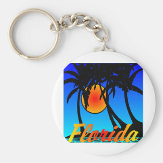 Florida Palm Trees Sunset Key Chains