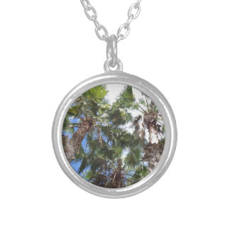 Florida Palms Silver Plated Necklace