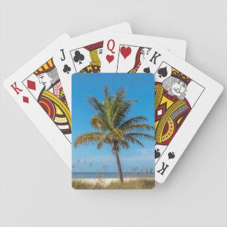 Florida palmtree beach playing cards