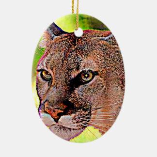 Florida Panther Ceramic Oval Ornament