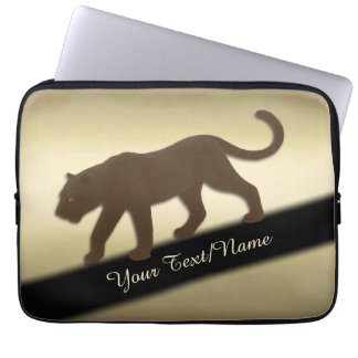 Florida Panther on Gold Personal Laptop Sleeve