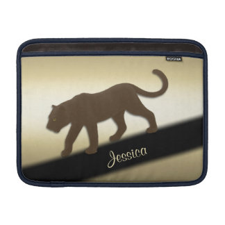 Florida Panther on Gold Personal MacBook Sleeve