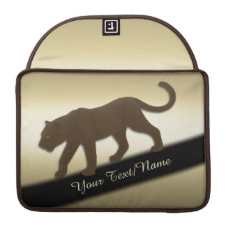 Florida Panther on Gold Personal Sleeve For MacBook Pro