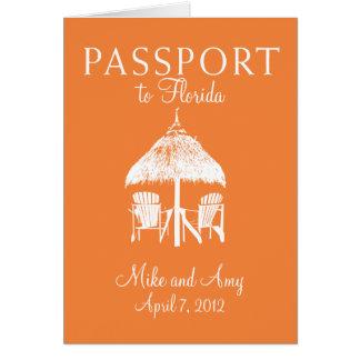 Florida Passport Wedding Invitation