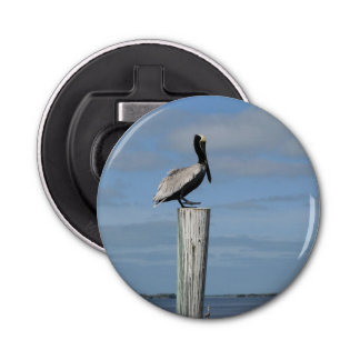 Florida Pelican on a Post Magnetic Bottle Opener