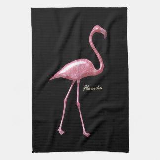 Florida Pink Flamingo Kitchen Towels