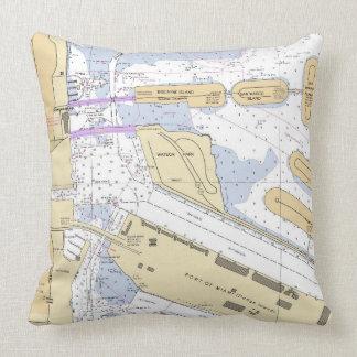 Florida_Port of Miami Throw Pillow