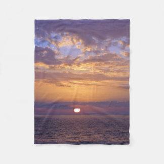 Florida purple sunset fleece blanket