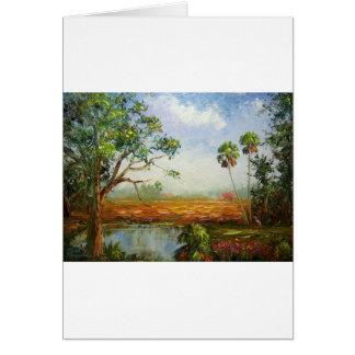 Florida Ranch Painting Card