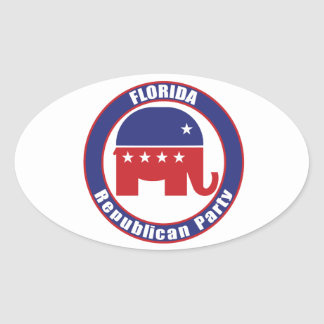 Florida Republican Party Oval Sticker