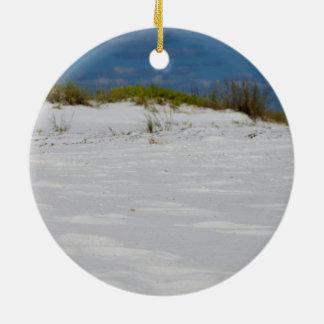 Florida Sands Round Ceramic Ornament