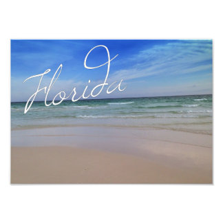 Florida Sandy Beach Photo Print