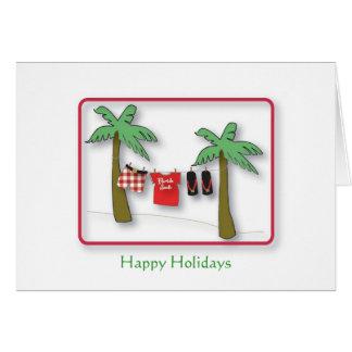 Florida Santa, Happy Holidays Card
