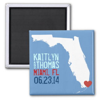 Florida Save the Date - Customizable City Magnet