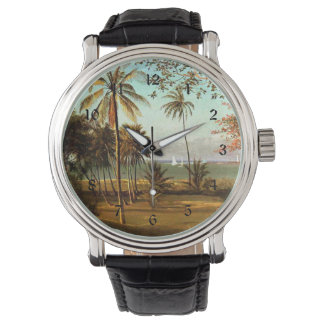 Florida Scene - Painting by Albert Bierstadt Wristwatches