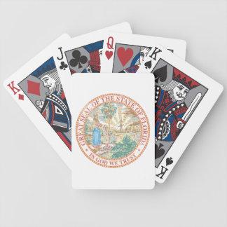 Florida Seal Bicycle Playing Cards