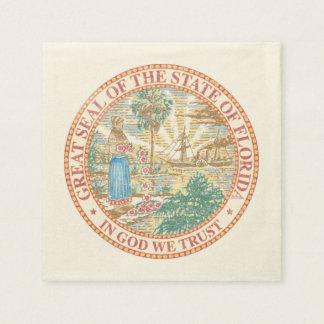 Florida Seal Paper Napkin