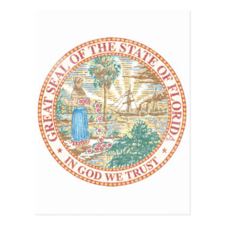 Florida Seal Postcard
