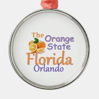 FLORIDA Silver-Colored ROUND ORNAMENT