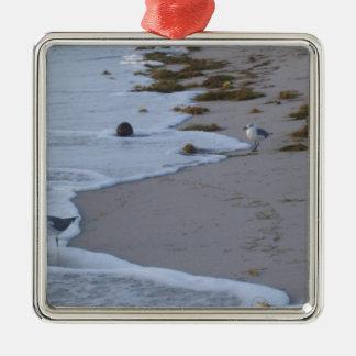 Florida Silver-Colored Square Ornament