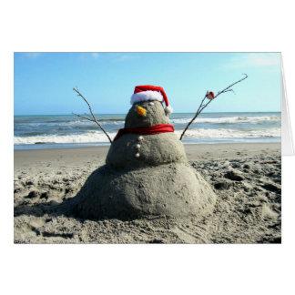 Florida Snowman (3232) - Greeting Card