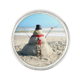 Florida Snowman Lapel Pin