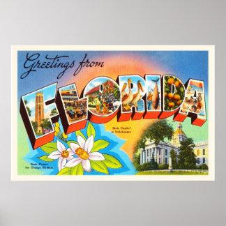 Florida State #1 FL Old Vintage Travel Souvenir Poster