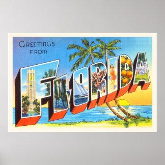 Florida State # 2 FL Old Vintage Travel Souvenir Poster