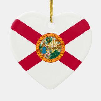 Florida State Flag Design Decor Ceramic Ornament