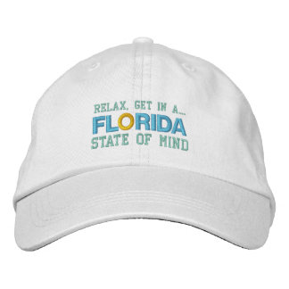 FLORIDA STATE OF MIND cap Embroidered Baseball Caps