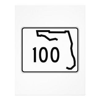 Florida State Route 100 Personalized Letterhead