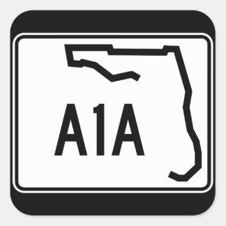 Florida State Route A1A Square Sticker