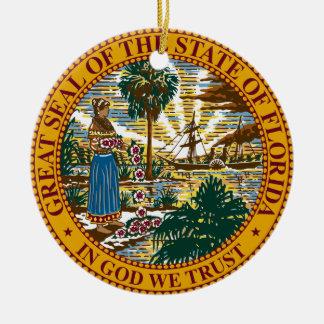 Florida State Seal Ceramic Ornament
