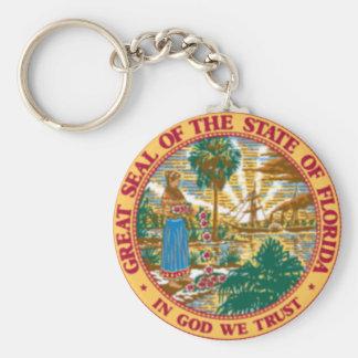 Florida State Seal Keychain