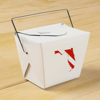 Florida State Silhouette Diving Flag Favor Box