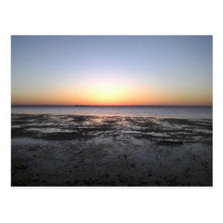 florida sun set postcard
