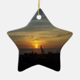 Florida Sunset Ceramic Star Ornament