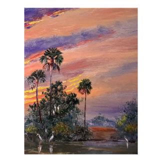 Florida Sunset Colors Letterhead