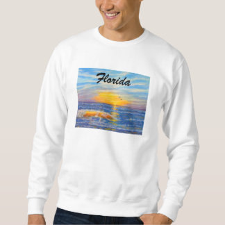 """FLORIDA SUNSET OCEAN WAVE 2 SWEATSHIRT"" SWEATSHIRT"