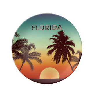 Florida Sunset Plate