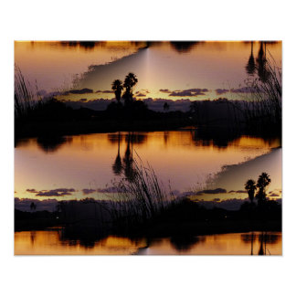Florida Sunset Reflection Poster