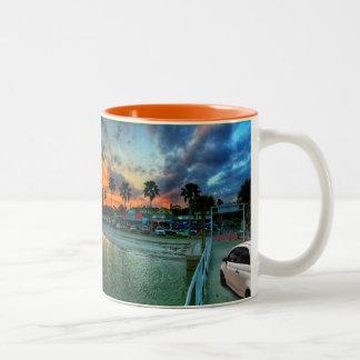 Florida Sunset Two-Tone Coffee Mug