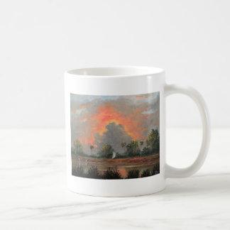 Florida Sunset while Travelling to Okeechobee Coffee Mug