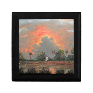 Florida Sunset while Travelling to Okeechobee Gift Box