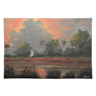 Florida Sunset while Travelling to Okeechobee Place Mat
