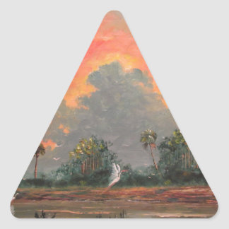 Florida Sunset while Travelling to Okeechobee Triangle Sticker